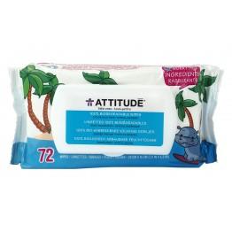 ATTITUDE - Биоразградими бебешки кърпички без аромат 72бр