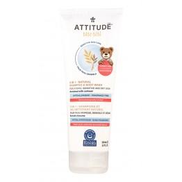 ATTITUDE - Бебешки шампоан и душ-гел 2 в 1 без аромат 200мл