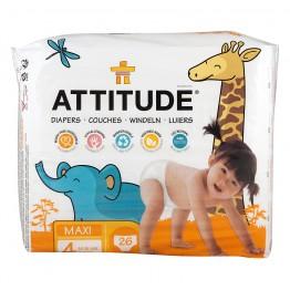 ATTITUDE - Бебешки пелени - биоразградими mini 36бр, midi 30бр, maxi 26бр