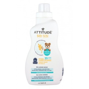 ATTITUDE - Натурален перилен препарат за бебешко пране 1л