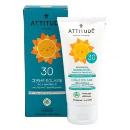 ATTITUDE - Слънцезащитен крем за деца SPF30 без аромат 75г