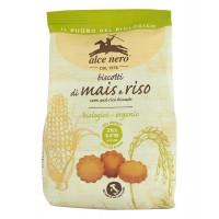 ALCE NERO - Био безглутенови бисквити от ориз и царевица 200г