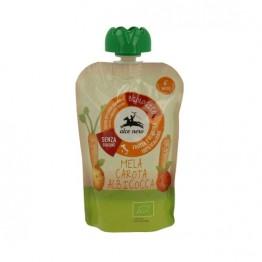 Alce Nero - Био бебешко пюре от ябълки, моркови и кайсии пауч 100г
