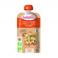 Babybio - Био крем супа със свинско, карфиол и розмарин след 8 месеца 180г