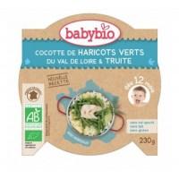 Babybio - Био меню с пъстърва и зелен фасул купичка след 12 месеца 230г