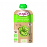 Babybio - Био крем супа с аспержи, краставица, грах и мента след 8 месеца 180г