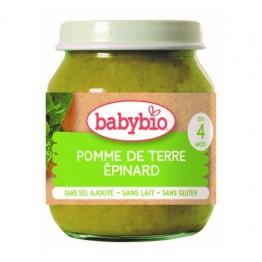 Babybio - Био бебешко зеленчуково пюре картофи и спанак 130г