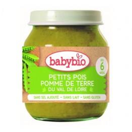 Babybio - Био бебешко зеленчуково пюре с грах 130г