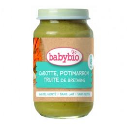 Babybio - Био бебешко зеленчуково пюре с пъстърва 200г