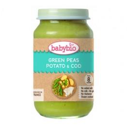 Babybio - Бебешко зеленчуково пюре с треска 200г