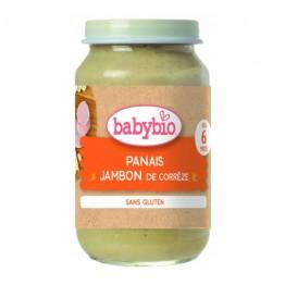 Babybio - Био зеленчуково пюре с пащърнак и шунка 200г