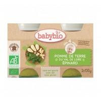 Babybio - Био зеленчуково пюре картофи и спанак 130г