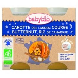 Babybio - Био зеленчуково пюре с морков, тиква и ориз 200г