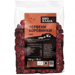 Био класа - Био червени боровинки, сушени 100г