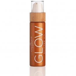 COCOSOLIS - GLOW SHIMMER OIL Натурално озаряващо и хидратиращо сухо масло с блестящи частици 110мл