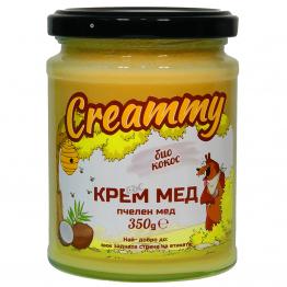 Creammy - Крем мед с био кокос 350г