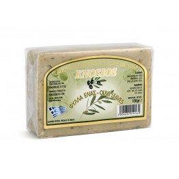 Knossos - Натурален бял сапун със зехтин и маслинови листа 100г