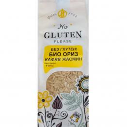 No Gluten Please - Био ориз без глутен Жасмин кафяв 400г