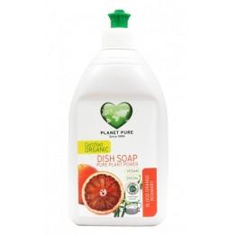 Planet Pure - Био препарат за съдове червен портокал и розмарин 510мл