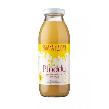 Ploddy - Студено пресован сок Ябълка с дюля 300мл