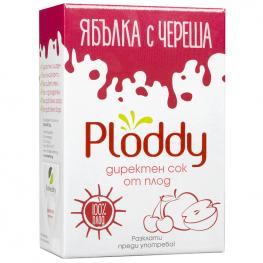 Ploddy - Студено пресован сок Ябълка с череша 3л