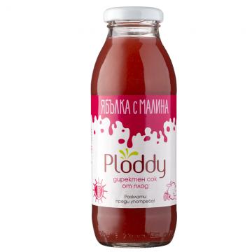 Ploddy - Студено пресован сок Ябълка с малина 300мл
