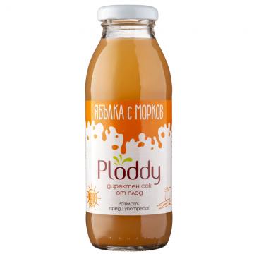 Ploddy - Студено пресован сок Ябълка с морков 300мл
