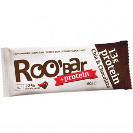 Roo'bar - ROОBAR био протеинов бар с чиа и шоколад 60г