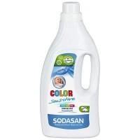 Sodasan - Био перилен препарат течен за цветно пране Sensitive 1500мл