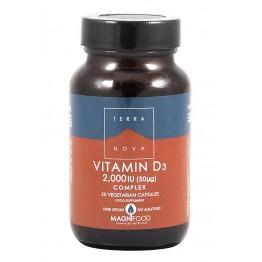 Terra Nova - Витамин D3 2000IU комплекс 50 капсули