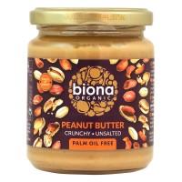 Biona - Био фъстъчено масло с парченца без сол 250 г
